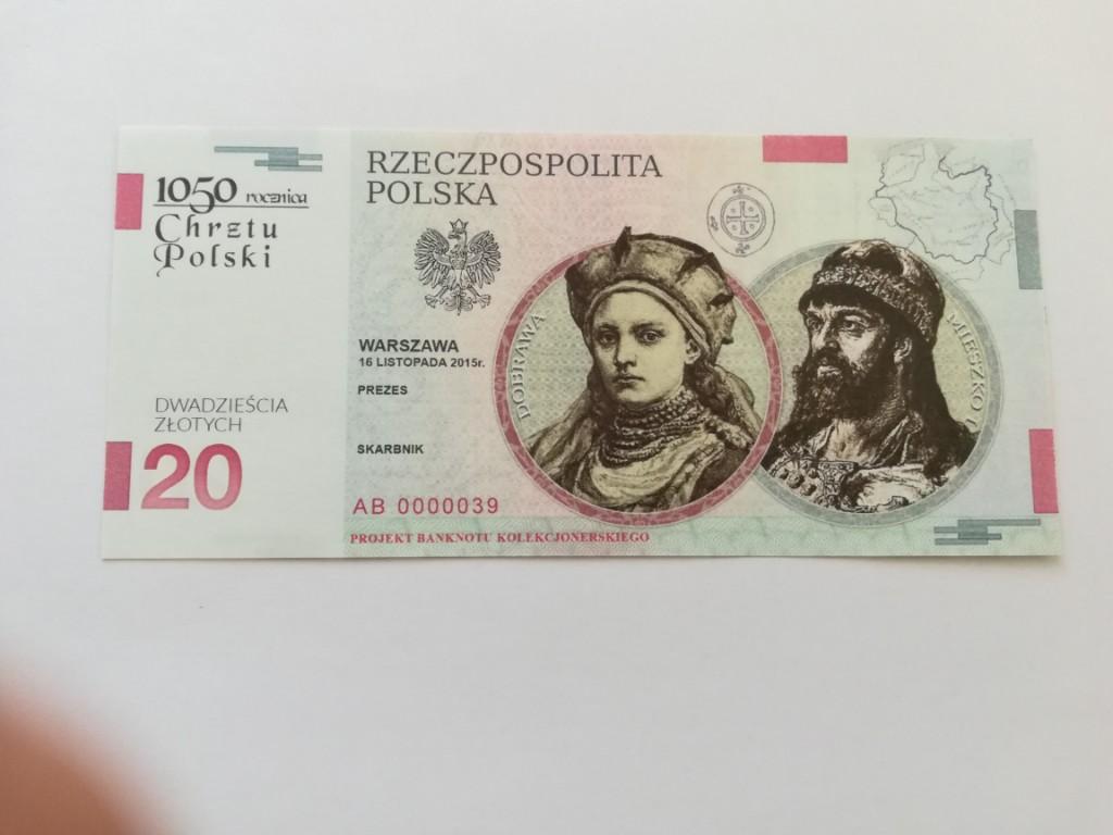 20 Zl Chrzest Polski Banknot Kolekcjonerski 7347179210 Oficjalne Archiwum Allegro