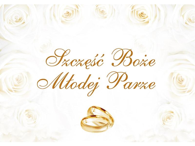 Plakat weselny na powitanie gości ślub 48x68cm NR5