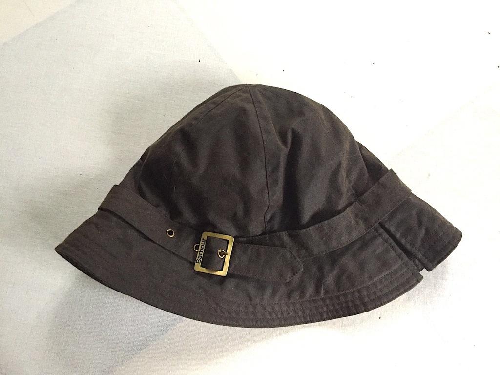 BARBOUR kapelusz Waxed Cotton Hat rozm S