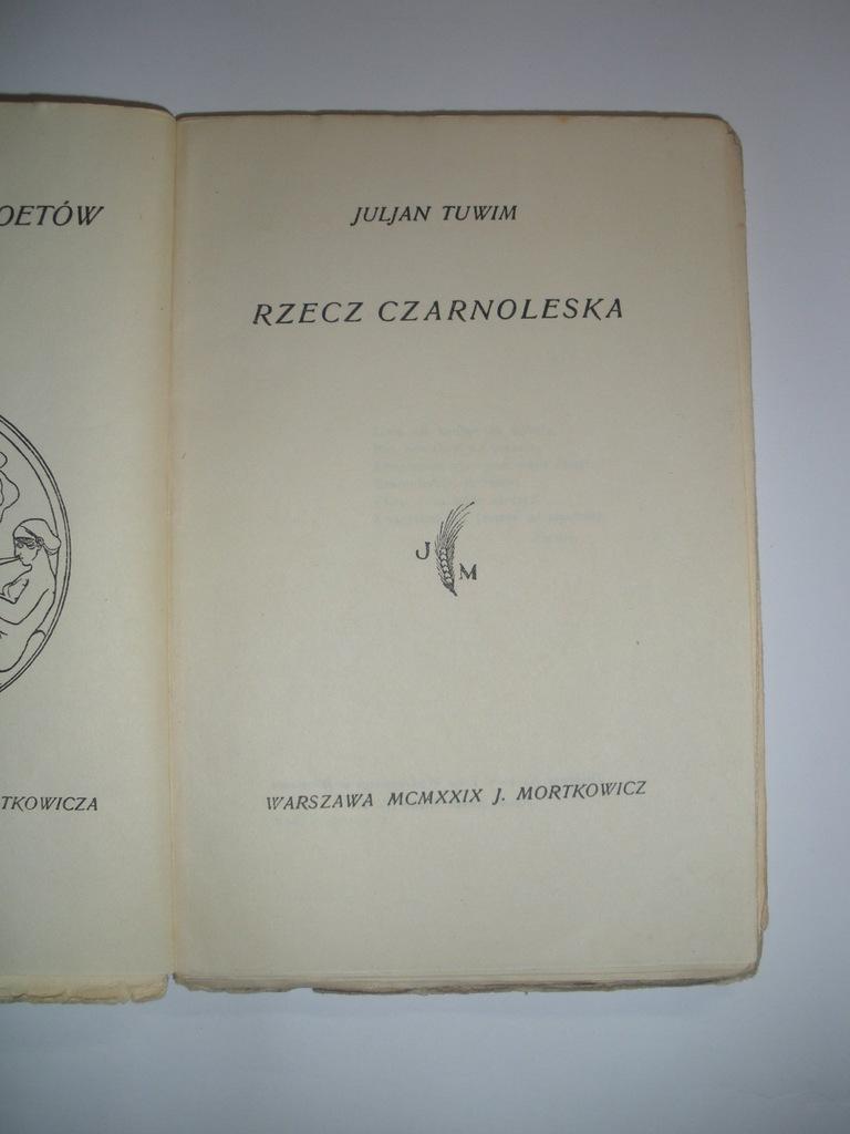 Julian Tuwim Rzecz Czarnoleska 1929 Wydanie 1