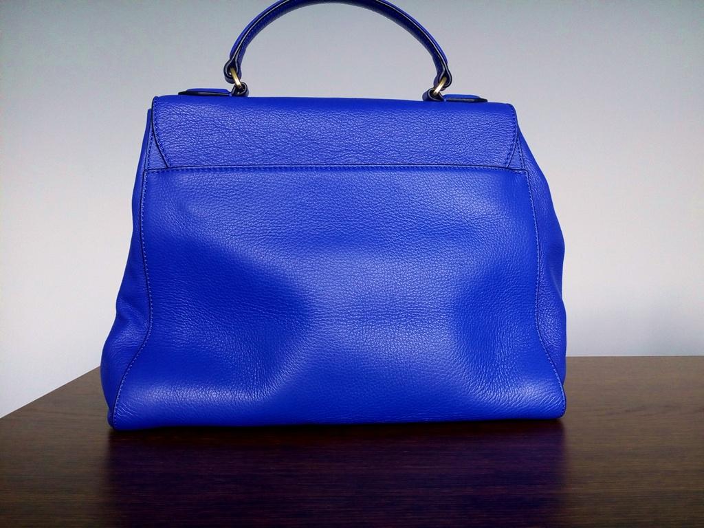 COCCINELLE kobaltowa skórzana torebka ORYGINALNA