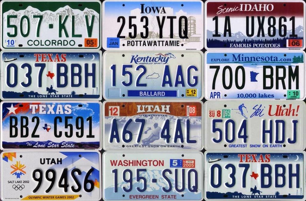 Tablice Rejestracyjne Z Usa Amerykanskie Tablice 7752748148 Oficjalne Archiwum Allegro