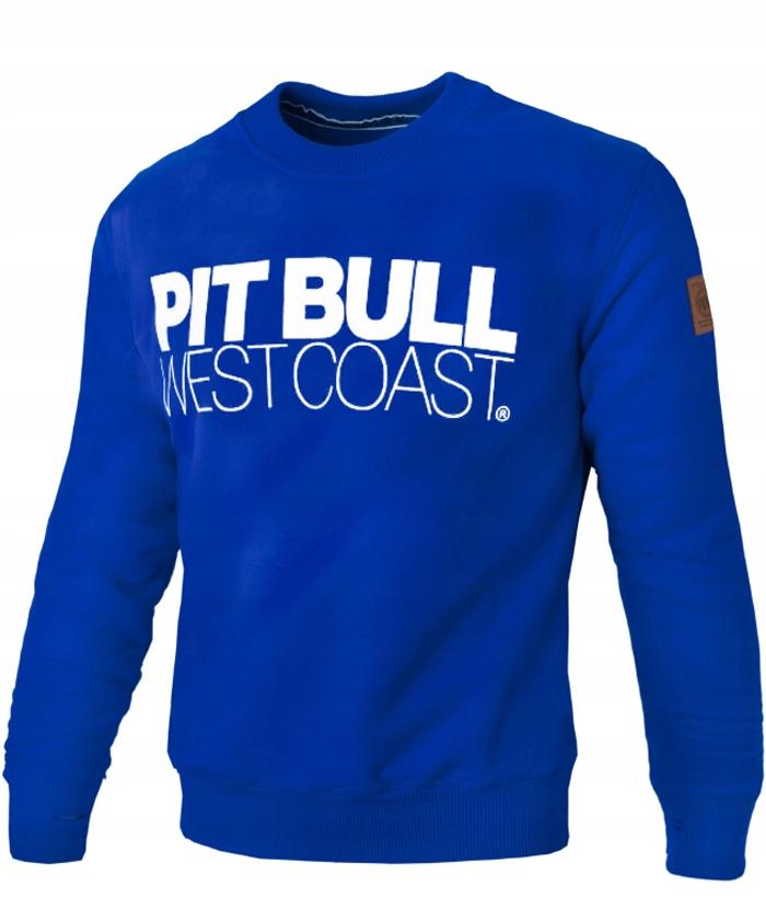 bluza męska pitbull niebieska