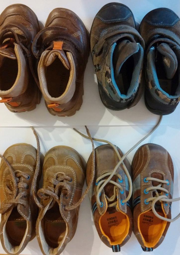 4x buciki skórzane dziecięce Clarks Naturino 21-24