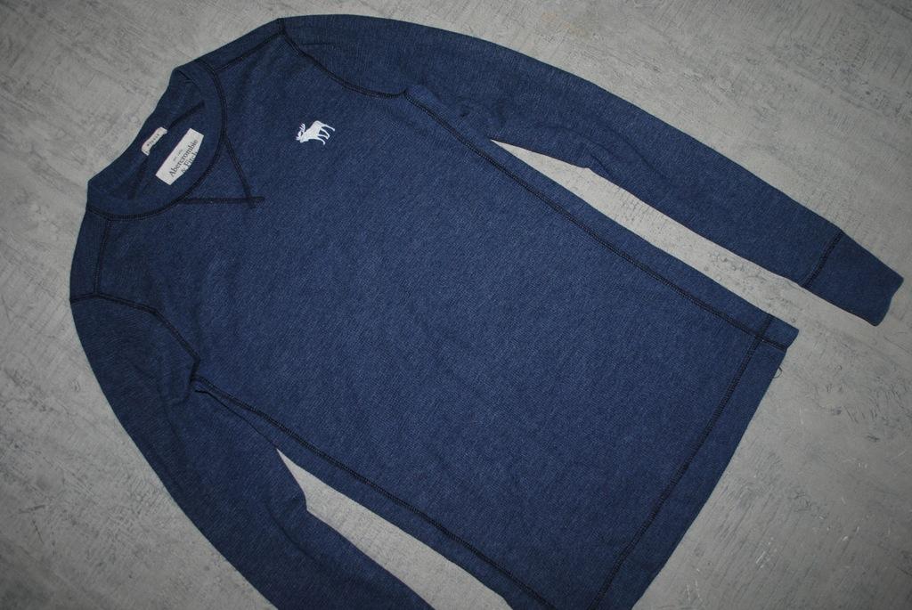 ABERCROMBIE & FITCH__granatowa koszulka_logo_M