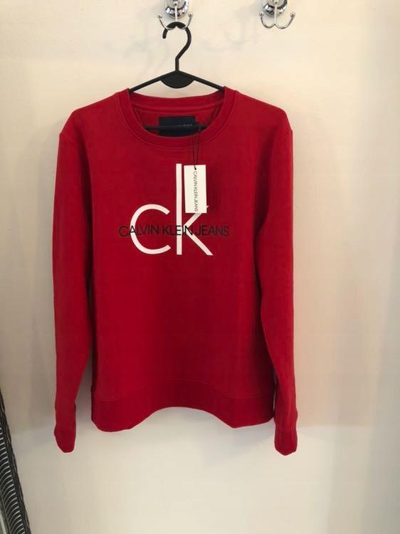 Bordowa bluza Calvin Klein