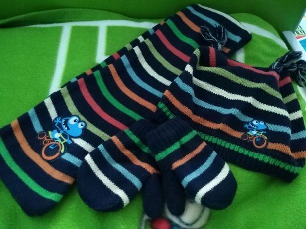 czapka szalik rękawiczki NEXT 3-5 lat 98- 110