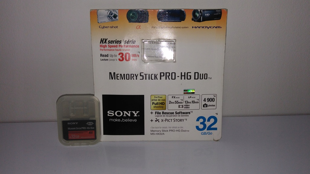 Karta Sony Memory Stick Pro-HG Duo 32GB