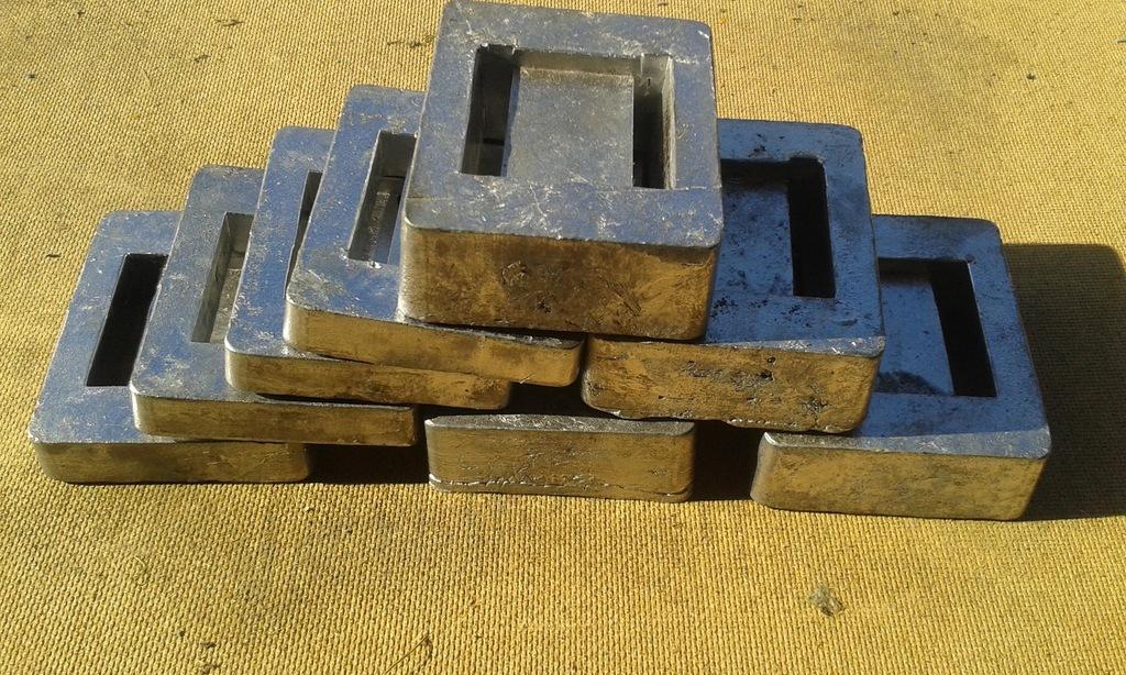 Balast nurkowy ołów kafel 2 kg - 25 zł