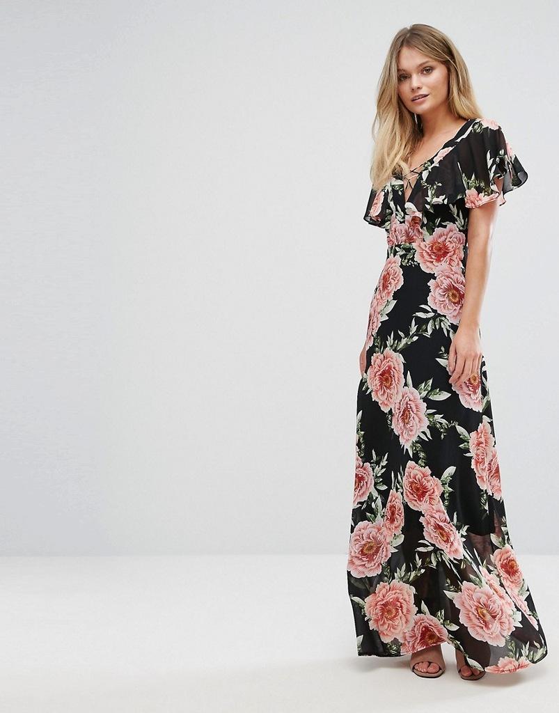Sukienka MAXI KWIATY XL 42