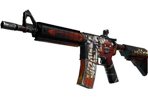 Cs Go Skin St M4a4 Hellfire Well Worn 6947652031 Oficjalne Archiwum Allegro