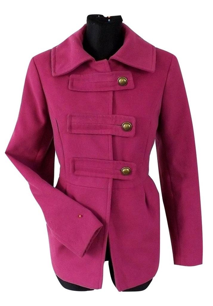 ORSAY amarantowy cudny płaszcz 36 OKAZJA 7166683209
