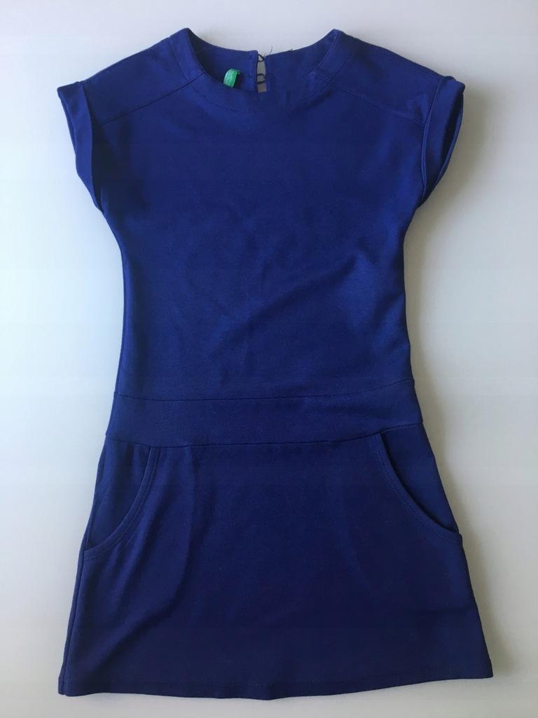 Benetton Piękna Fioletowa Sukienka