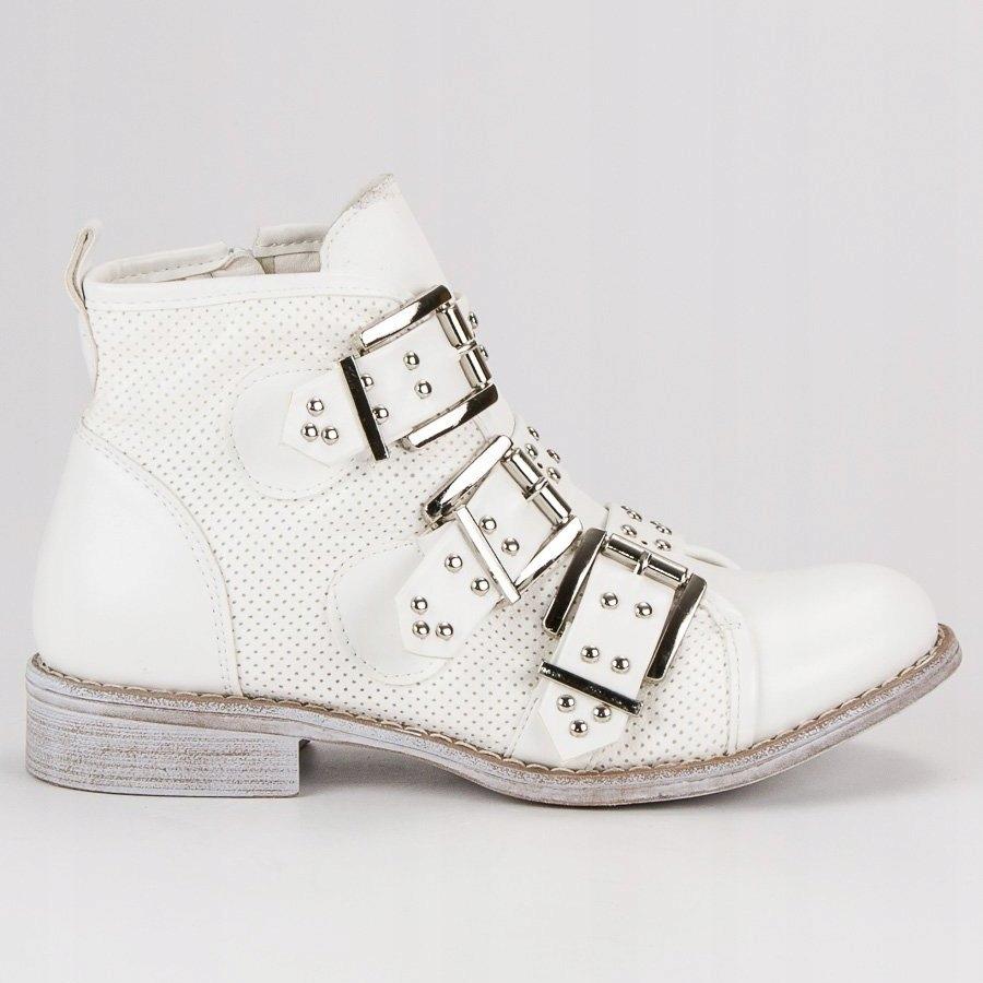 Białe Buty Damskie Botki Sweet Shoes r.39