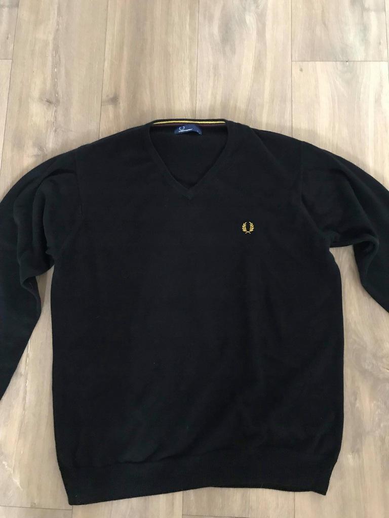 Fred Perry Sweter L - kolor czarny, 100% bawełna