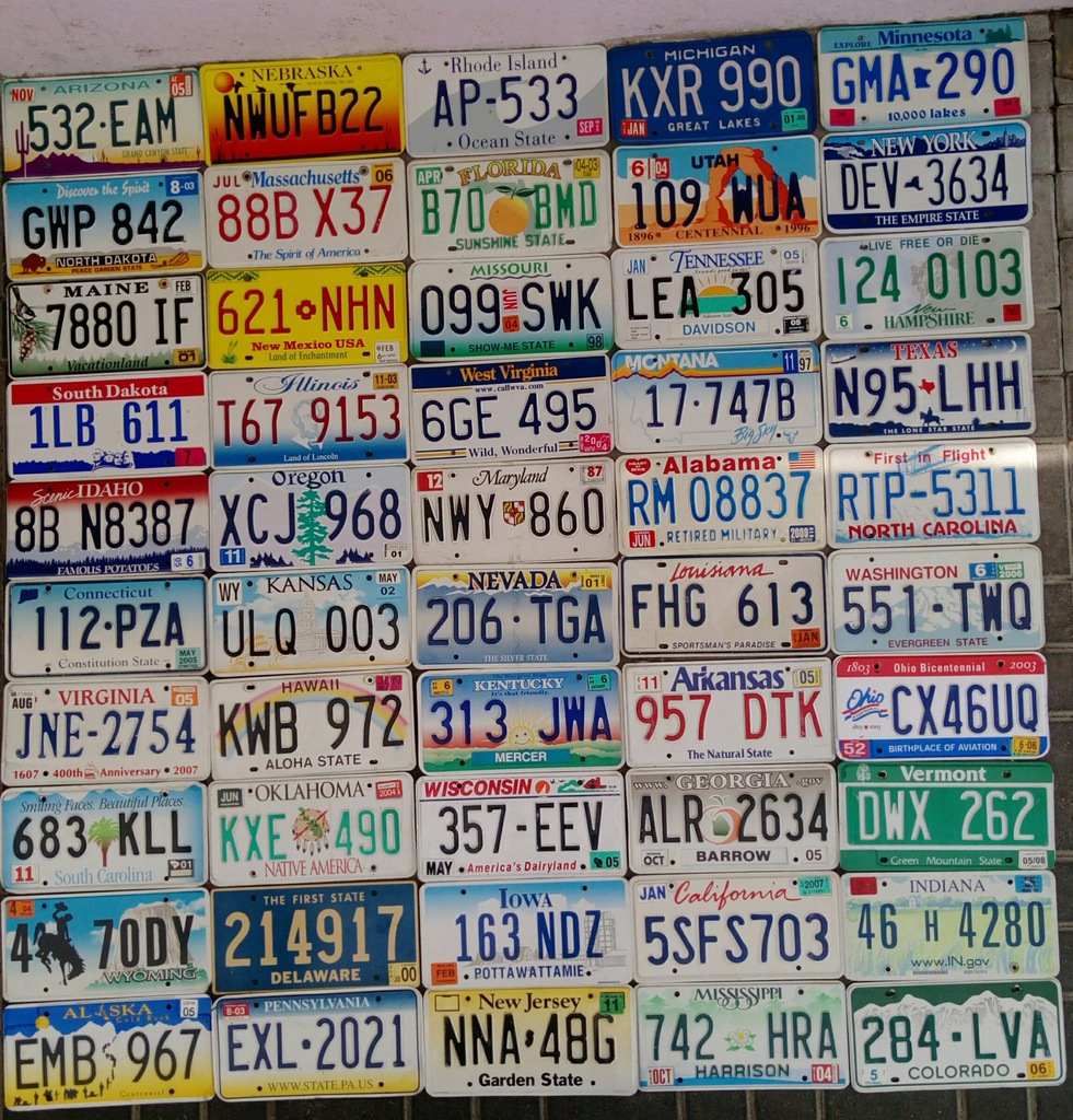 Tablice Rejestracyjne Usa Kolekcja 50 Tablic 7442317619 Oficjalne Archiwum Allegro
