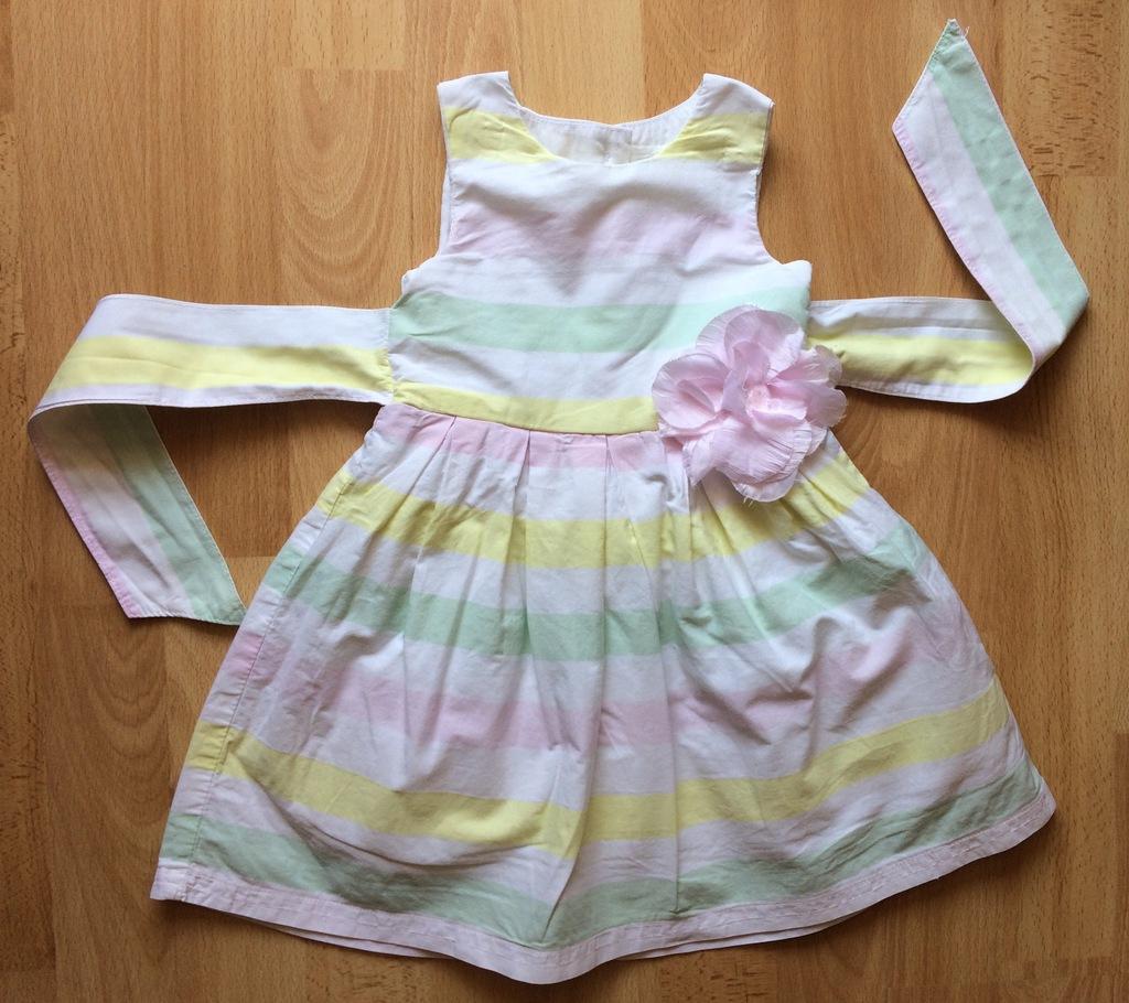 EARLY DAYS Piękna sukienka elegancka chrzest 74