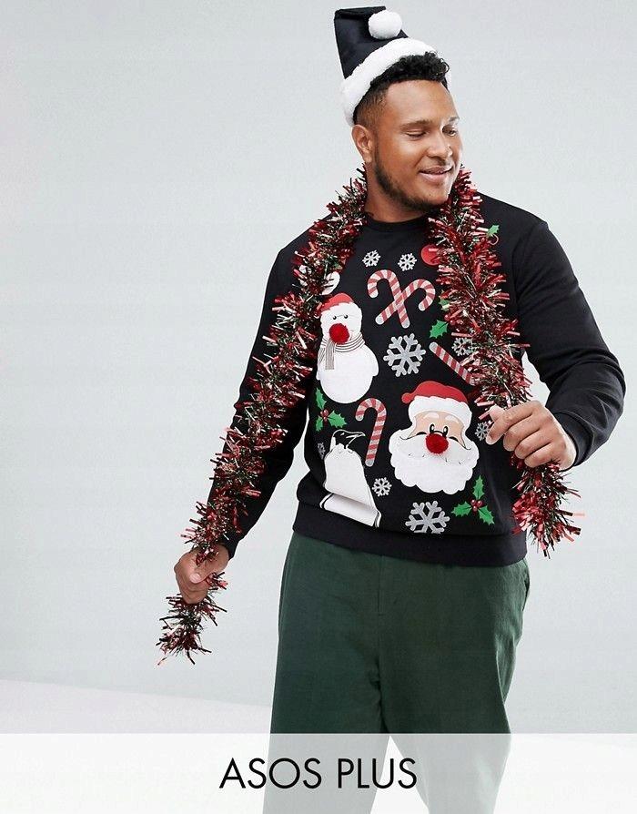 czarna bluza świąteczna