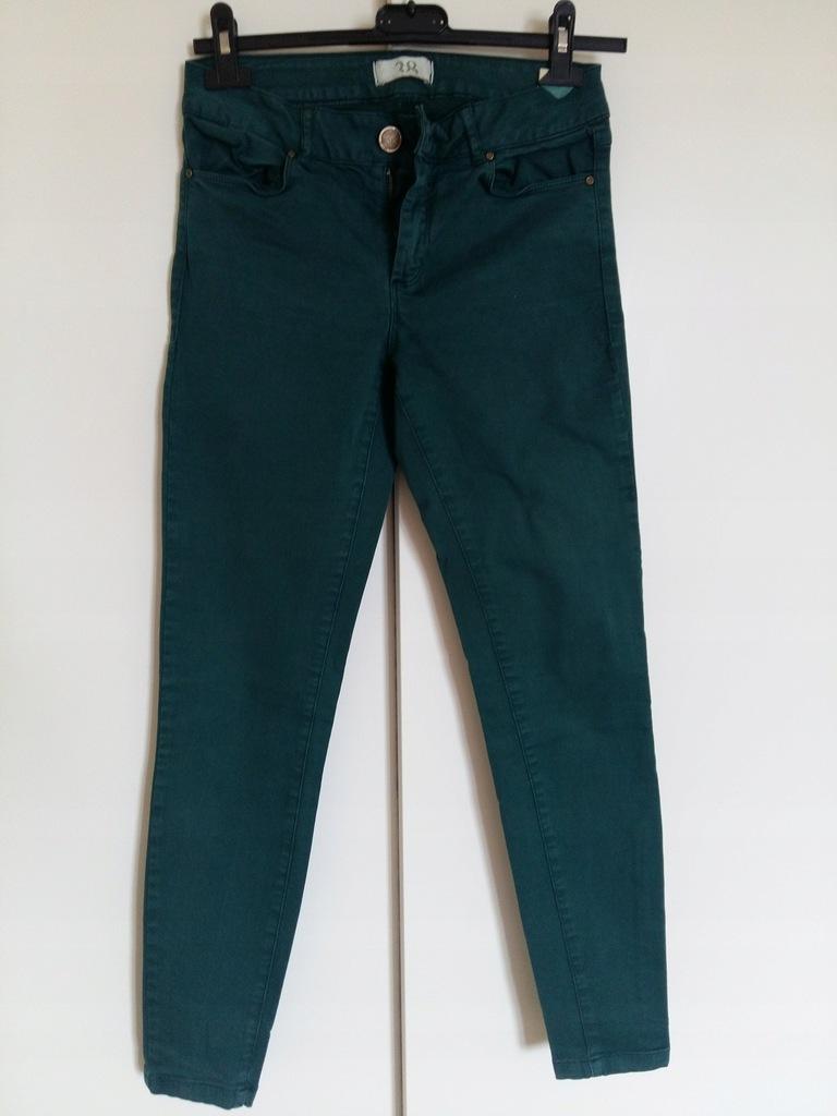 Spodnie Zara butelkowa zieleń S M 36 38