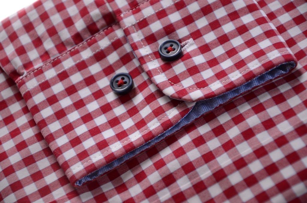 ABRAMS koszula w czerwoną kratkę SLIM k 39 40 7374337894  jReRE