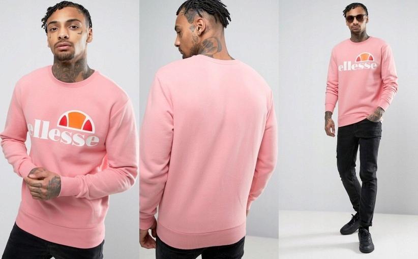 bluza ellesse różowa meska
