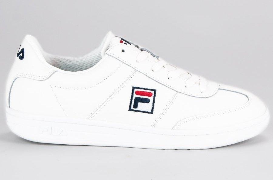 Białe Skórzane Buty Męskie Sportowe Fila r.45 7537706482