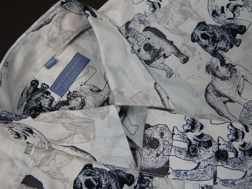 303 RED BARON modna koszula psy psiaki XL 7393650530  TtRZz