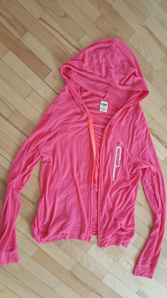 Bluza adidas damska Rozpinana neonowy róż rozmiar M różowa