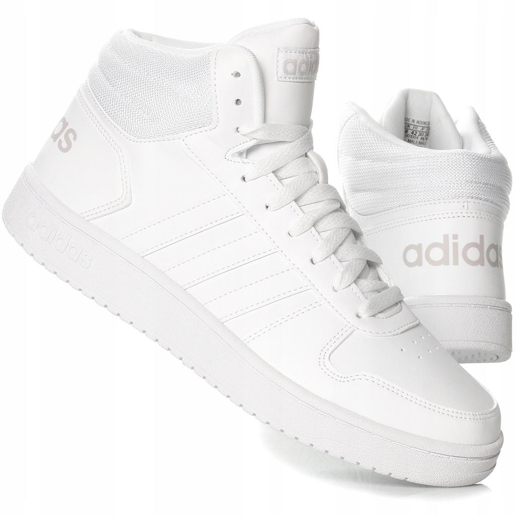 Buty Adidas Męskie Hoops 2.0 F34841 Białe Ceny i opinie