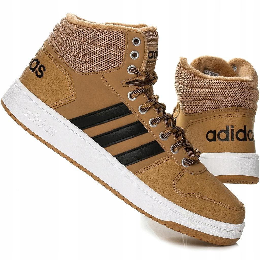 Adidas Hoops 2.0 MID B44620 Męskie Ocieplane W wa Ceny i