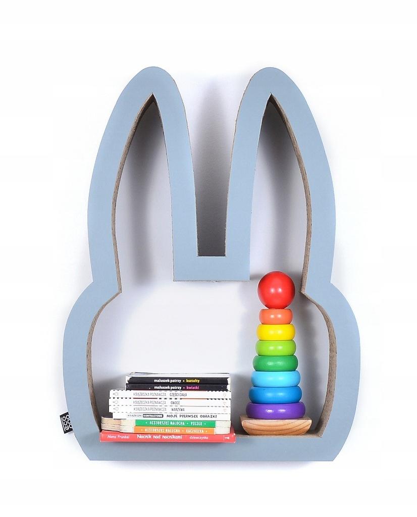 Półka na książki zabawki KRÓLIK eco | szary