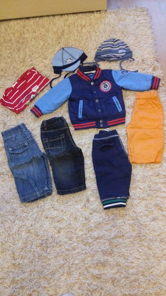 Ubrania dla dziecka, kurtka spodnie dres jeans