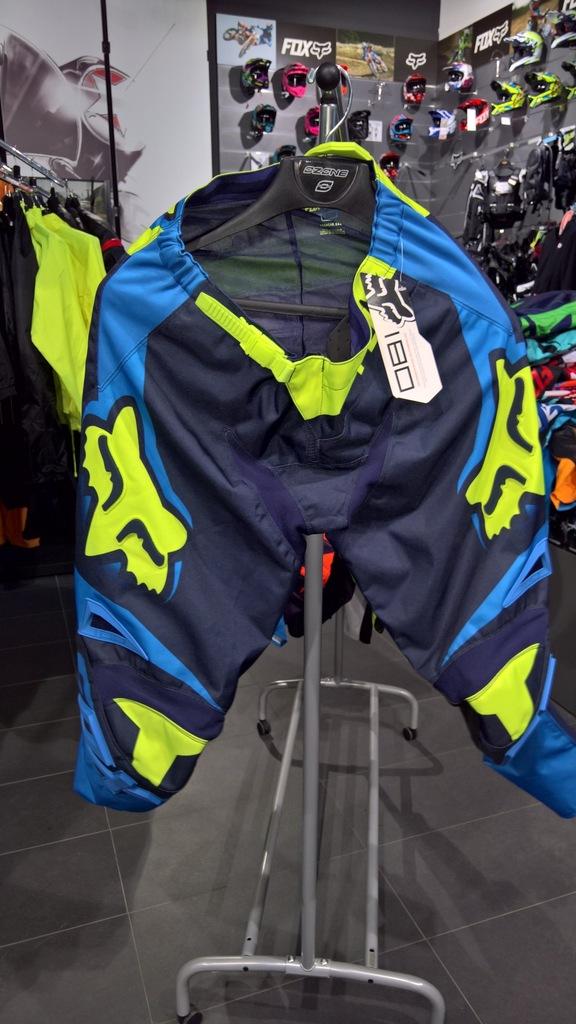 Spodnie Fox 180 Race Blue/Yellow roz. 34