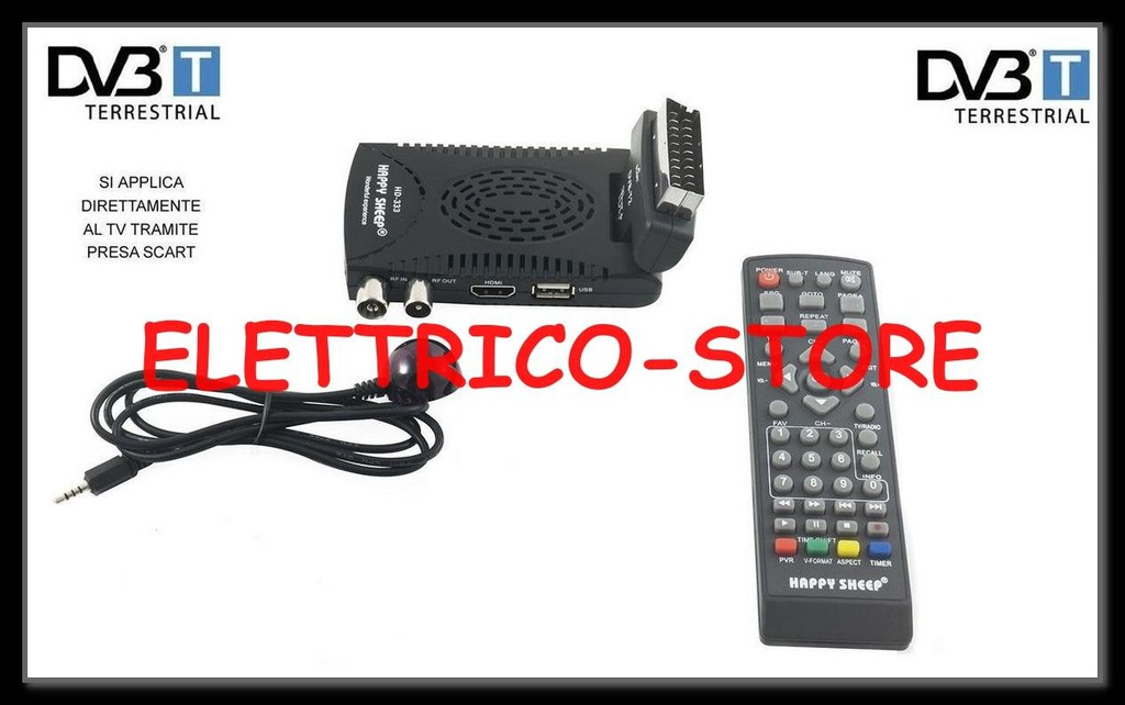 Cyfrowy dekoder naziemny MPEG4 DVB-T2 HD-333