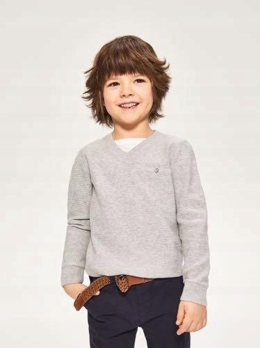 RESERVED sweterek w serek szary r 104