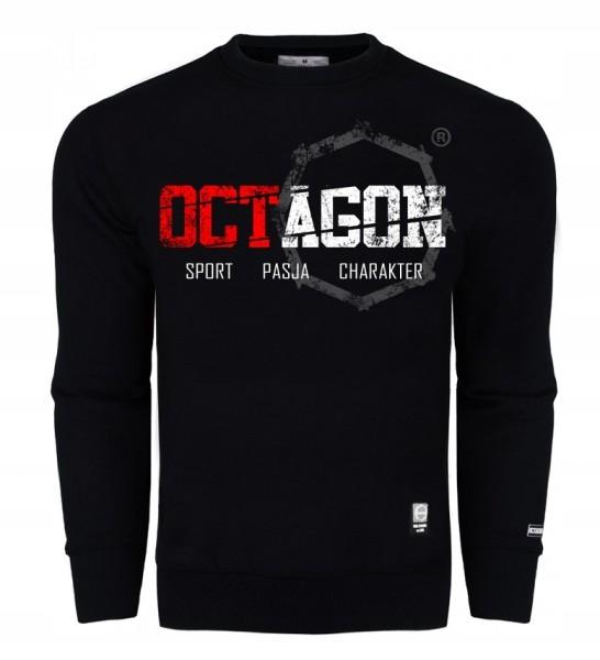 Bluza Octagon Sport pasja prosta męska czarna r.XL
