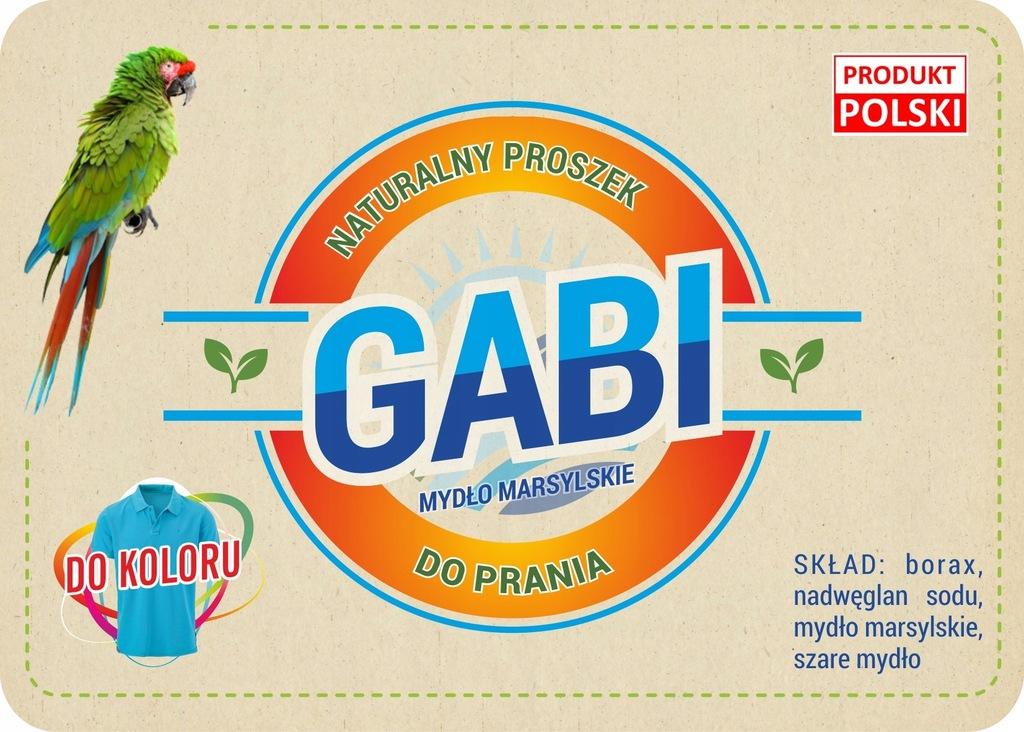 Eko proszek do prania 'GABI' do koloru 3kg(wiadro)