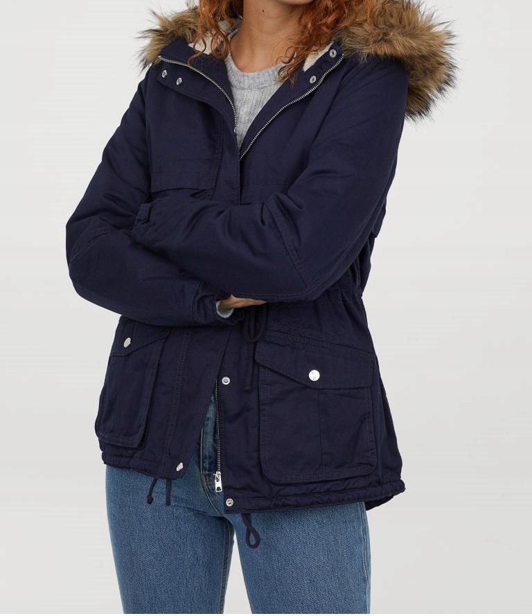 H&M nowa kurtka 36 ocieplona S 170 wiosna jesień parka