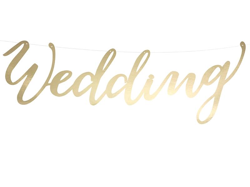 Napisy plakaty banery weselne WEDDING na ślub SL