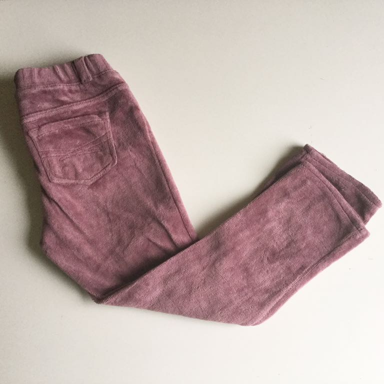 GAP Zara welurowe leggi spodnie 104 4T
