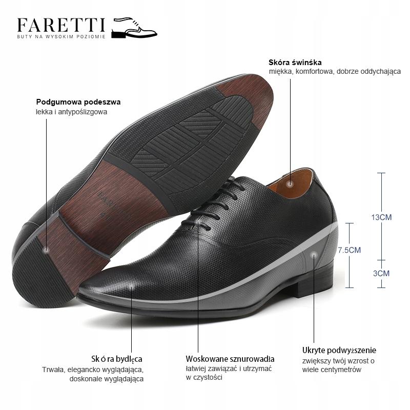 buty męskie podwyższające 5 cm