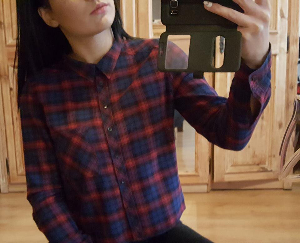 Koszula w kratę, H&M, rozm. M