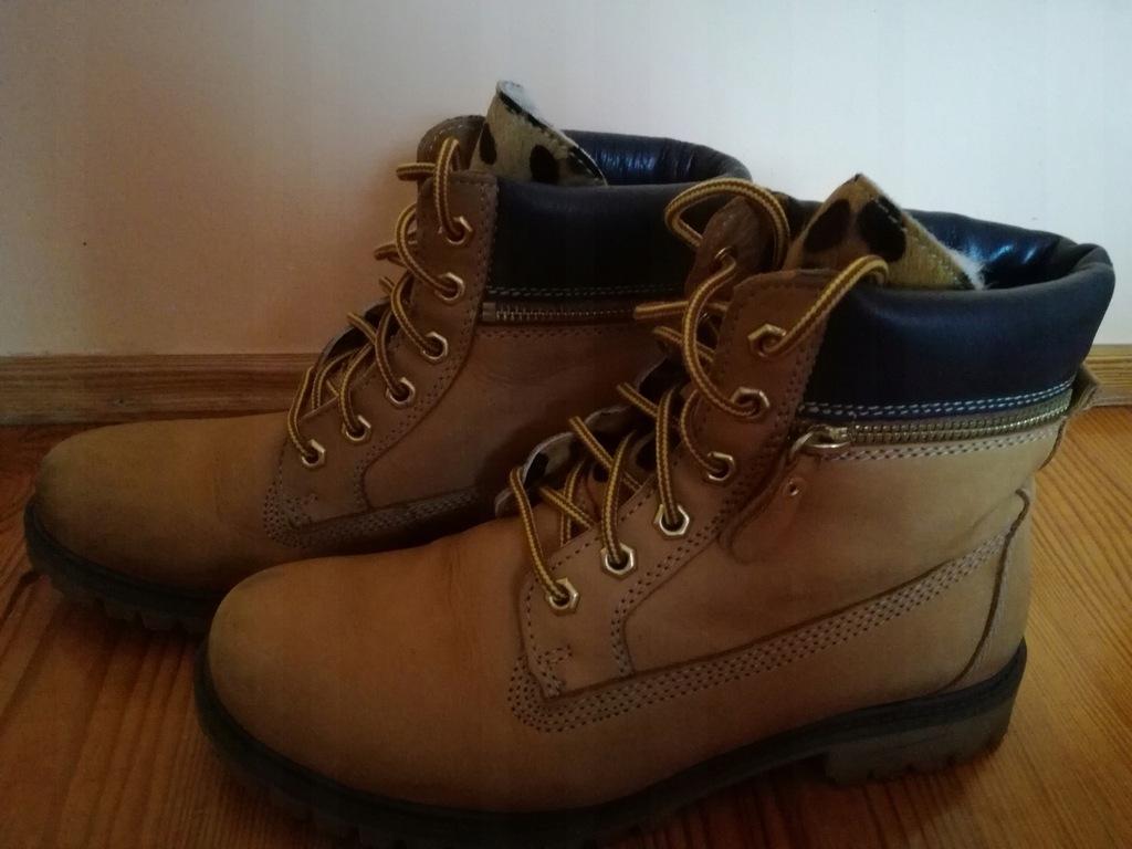Buty zimowe botki beżowe LASOCKI 41