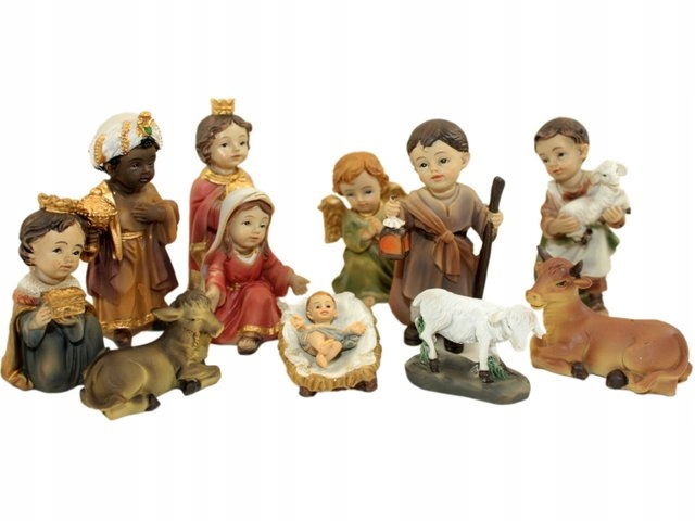 Dzieciece Figurki Do Szopki Komplet 12 Figurek 7cm 7643151473 Oficjalne Archiwum Allegro