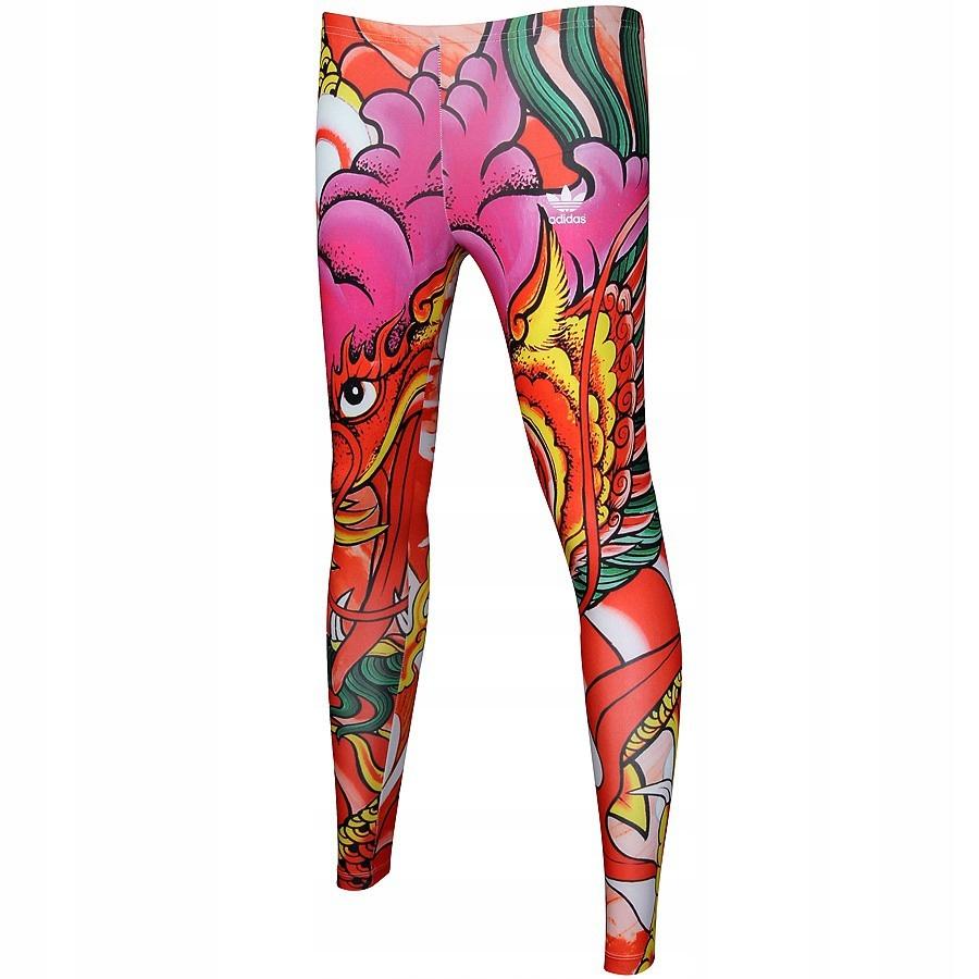 Legginsy adidas Originals Rita Ora Dragon Print A9