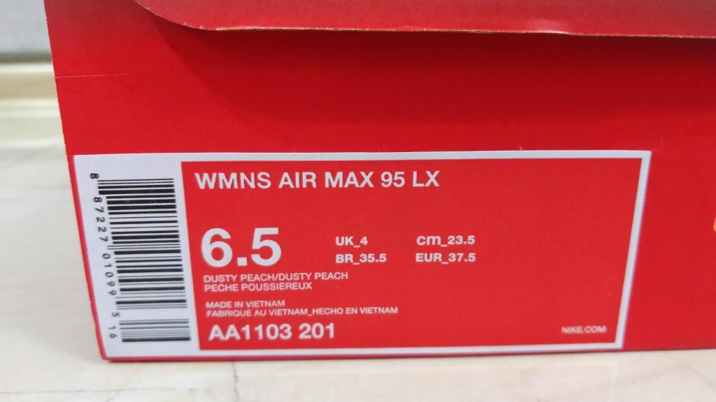 nike air max 95 LX dusty peach 37,5 zalando