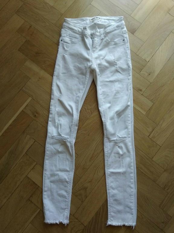 Spodnie jeansowe Tally Weijl białe R.34