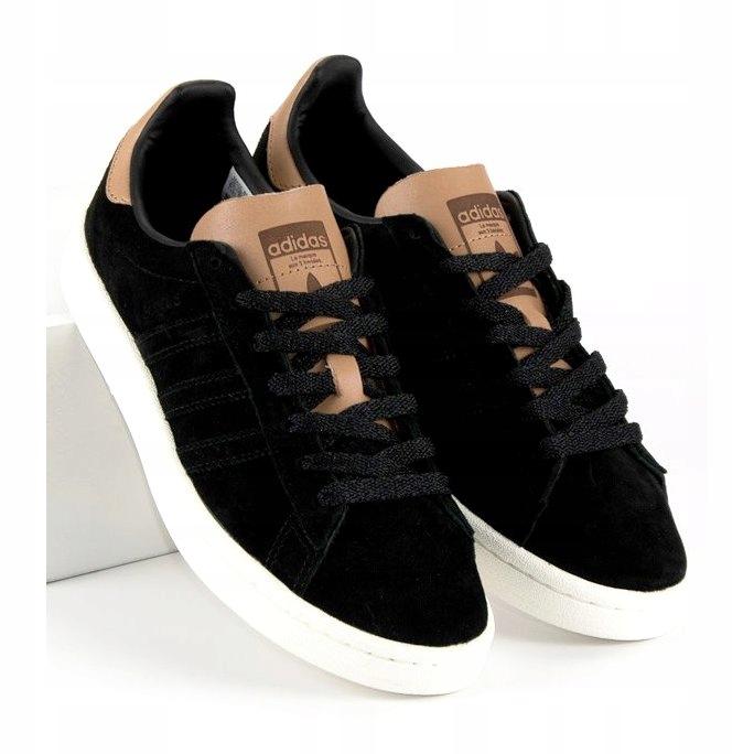 Czarne Brązowy, beżowy Skórzane Buty Adidas r.39