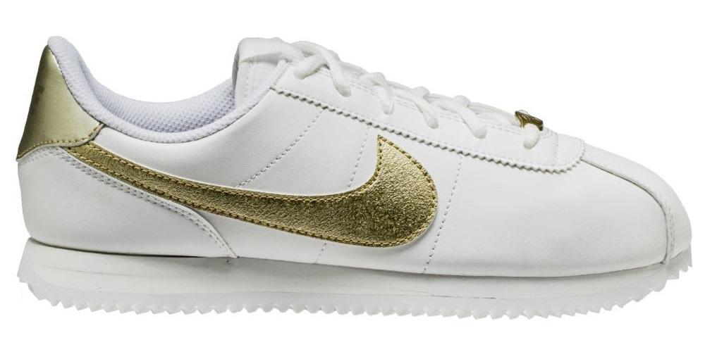 buty nike cortez białe