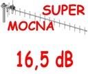 NAJMOCNIEJSZA Antena Kierunkowa GSM 20-elementowa